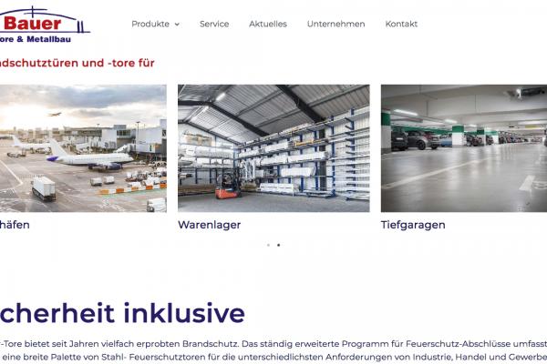Bauer Tore und Metallbau online