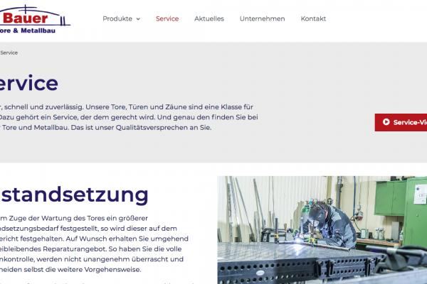 Bauer Tore und Metallbau online Service