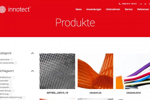 Innotect online Produkte