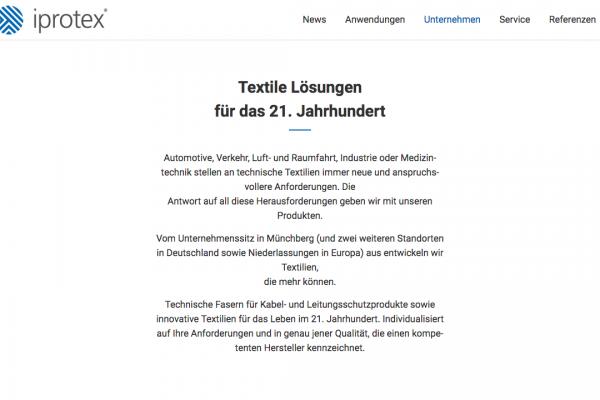 Iprotex online Unternehmen