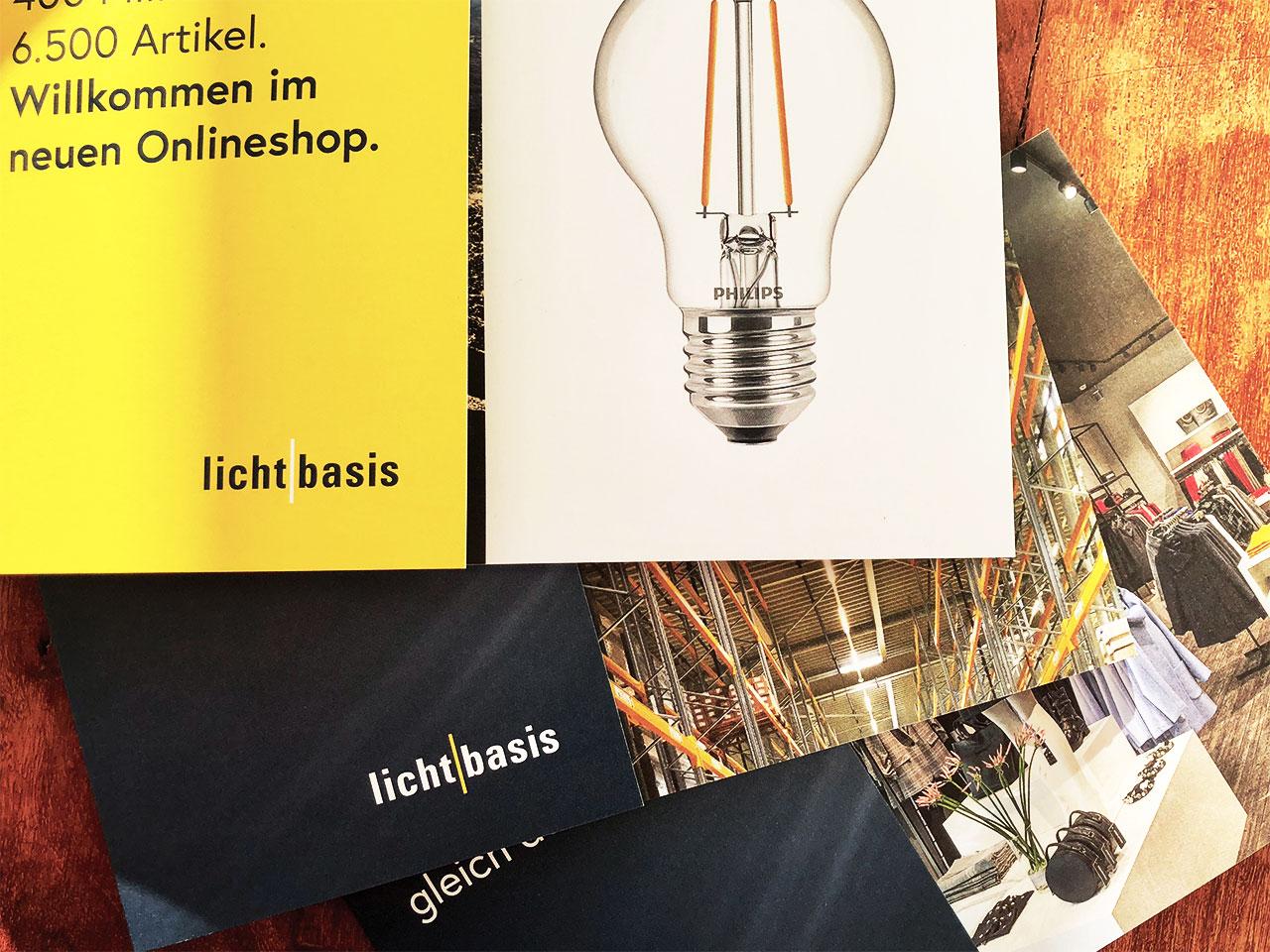 Gutes Licht verkauft lichtbasis Flyer Good light sold – lichtbasis