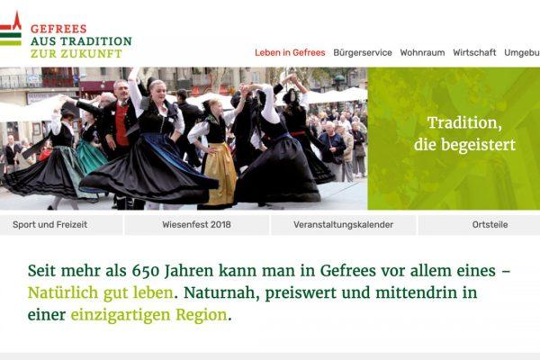 Stadt Gefrees online Leben