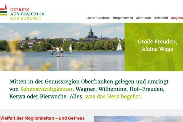 Stadt Gefrees online Umgebung