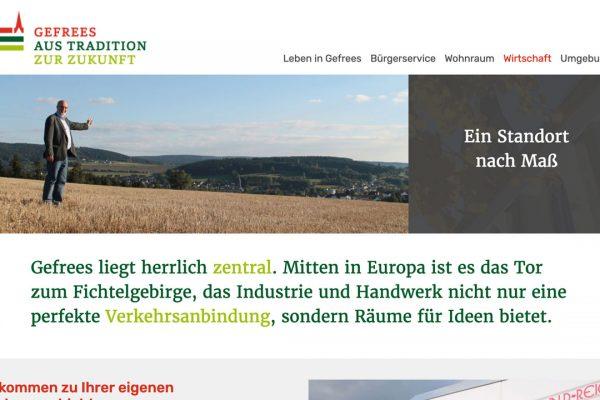 Stadt Gefrees online Wirtschaft