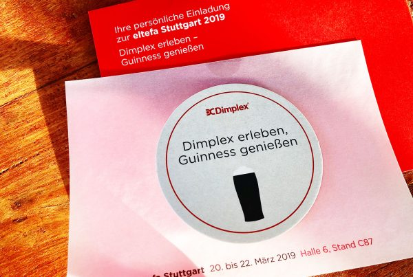 Dimplex Messeeinladung eltefa fair Stuttgart Dimplex