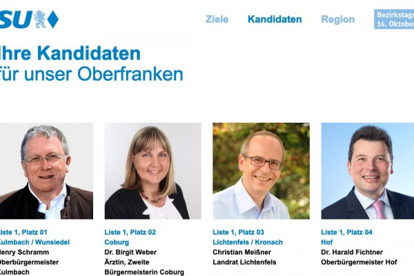 CSU Bezirkstagswahl online
