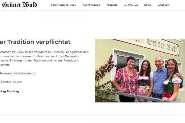Landgasthof Grüner Wald online