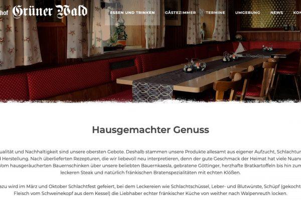 Landgasthof Grüner Wald online Essen und Trinken