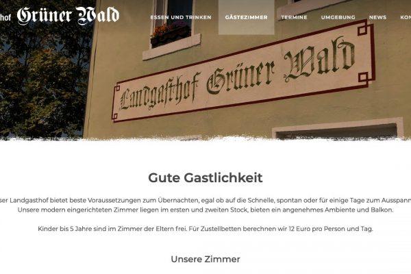 Landgasthof Grüner Wald online Gästezimmer