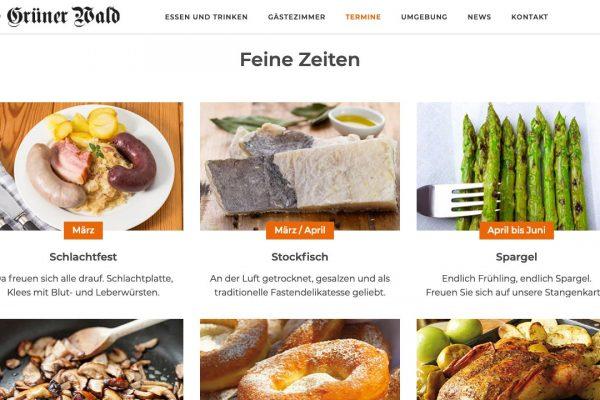 Landgasthof Grüner Wald online Termine