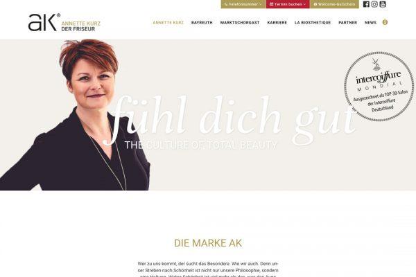AK der Friseur Website - Annette Kurz