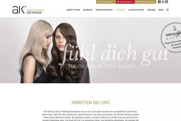 AK der Friseur Website - Karriere