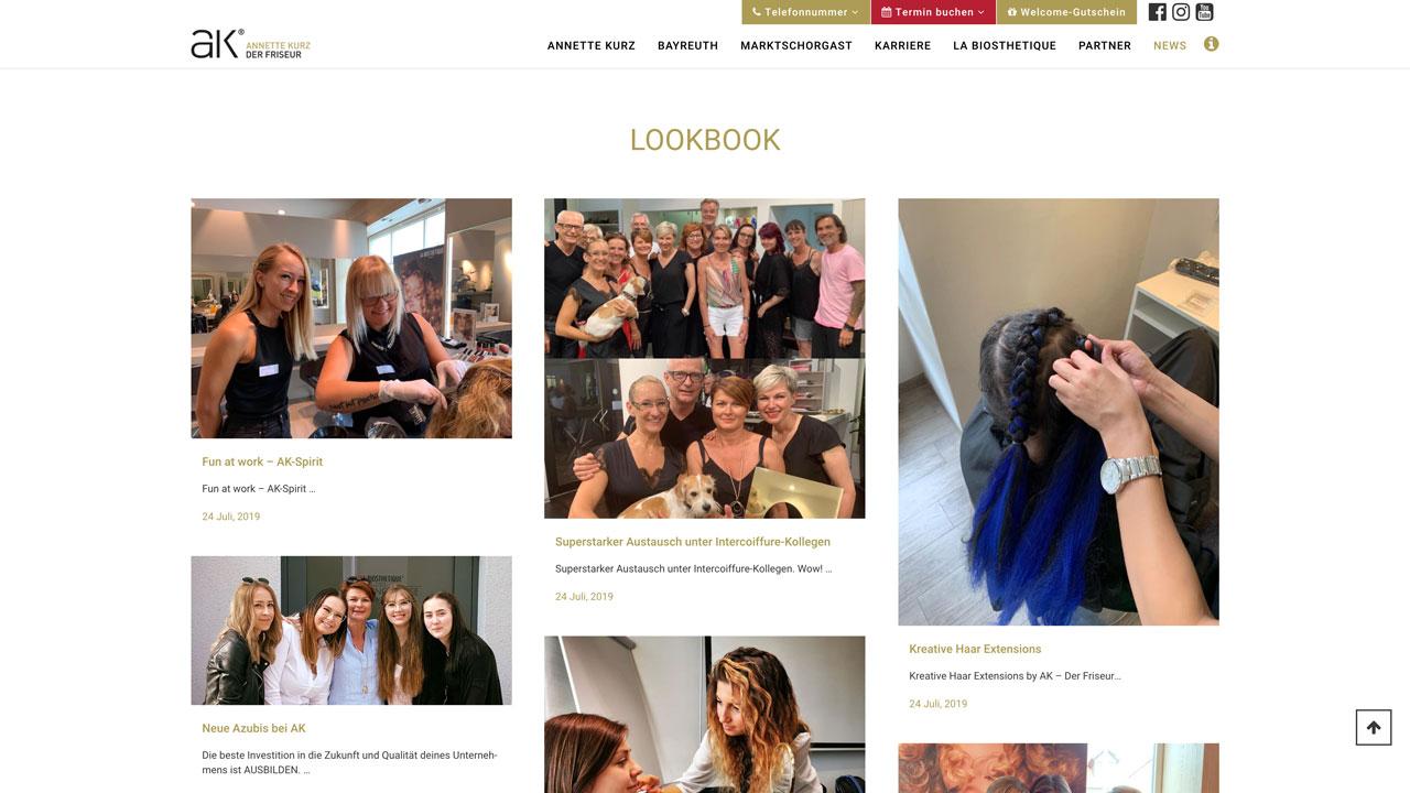 AK der Friseur Website - News Fühl Dich gut – AK online Feel good – AK online