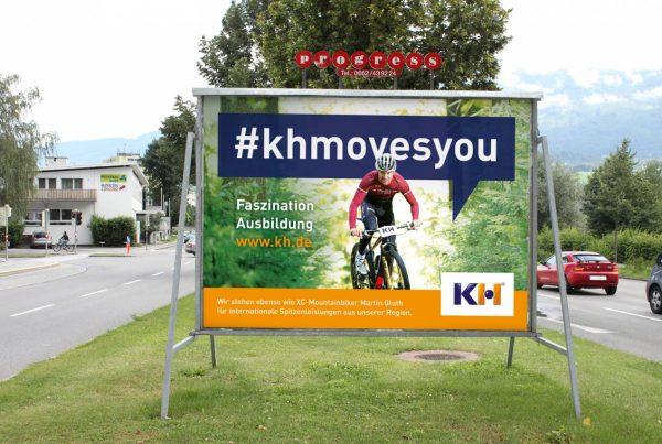 #khmovesyou Ausbildung Billboard #khmovesyou Kunststoff Helmbrechts