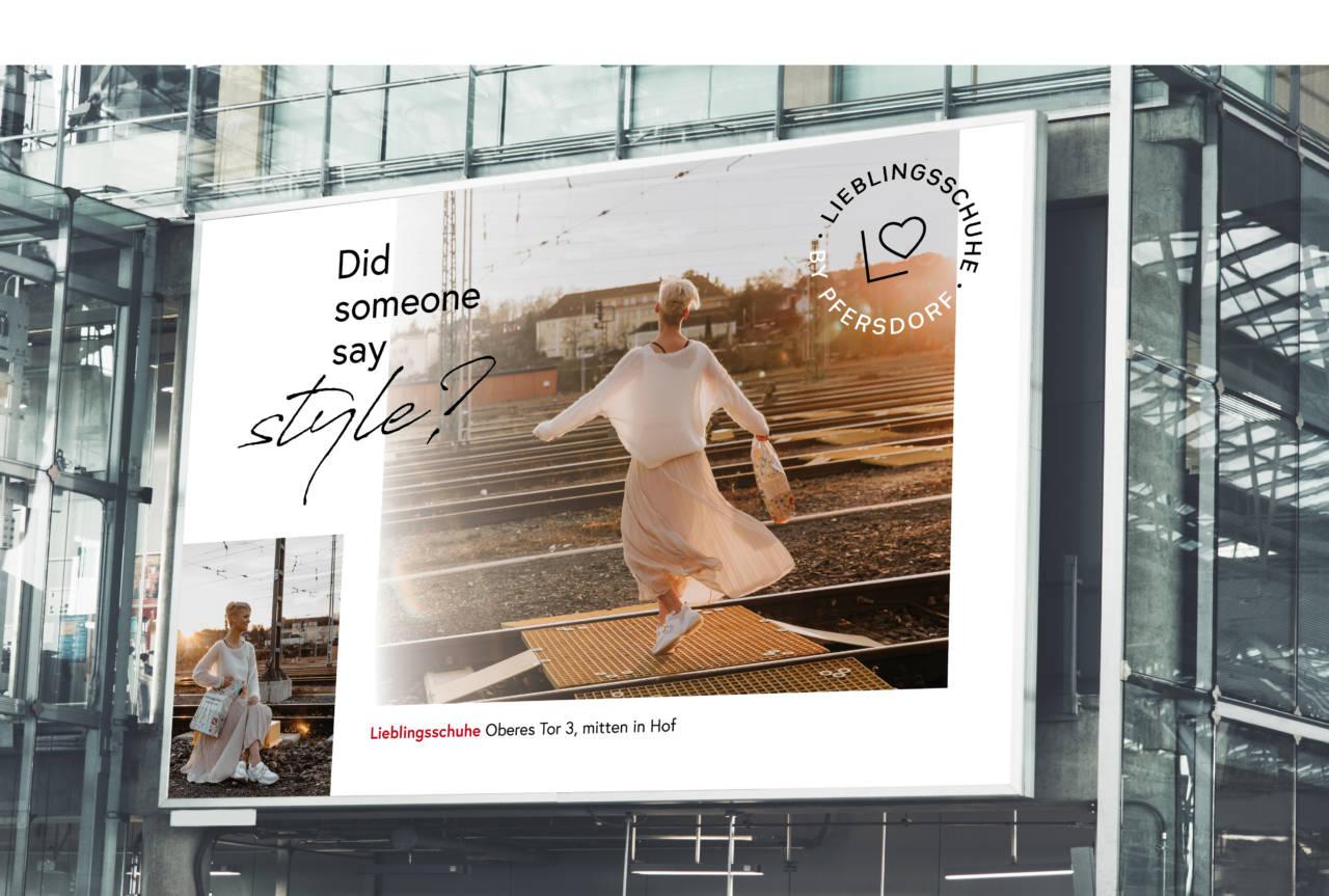 Pfersdorf Lieblingsschuhe Billboard Fashion-Adventures by Pfersdorf - Kampagne Fashion-Adventures by Pfersdorf - Kampagne