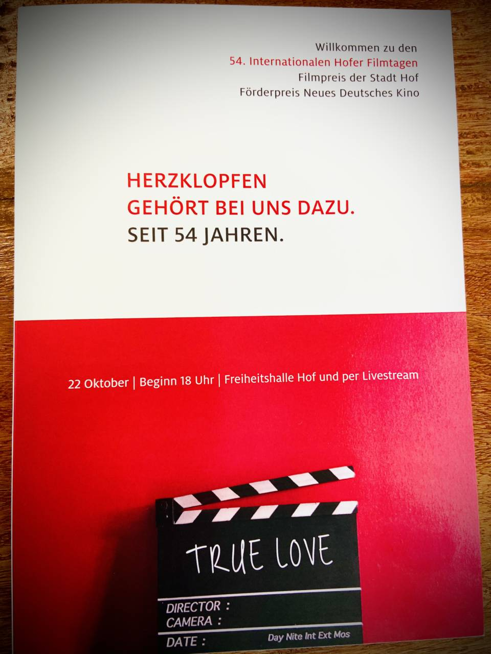 Hofer Filmtage 2020 Plakat Palpitations in Hof